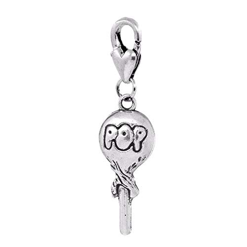 - Lollipop Pop Candy Sweet Treat Halloween Lobster Clip Dangle Charm for Bracelets Crafting Key Chain Bracelet Necklace Jewelry Accessories Pendants