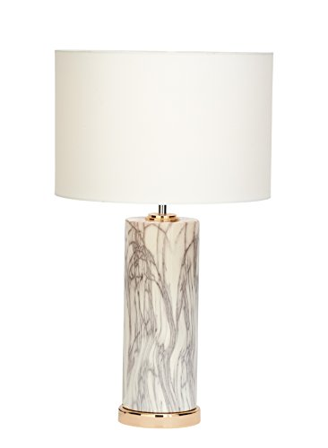 Deco 79 60726 Table Lamp, White, Black, Copper