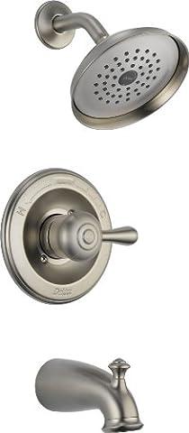 Delta 14478-SSSHL Leland Monitor 14 Series Tub and Shower Trim, Stainless (Delta Leland Bathtub Faucet)
