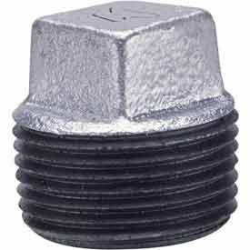 Anvil International 0819902529 Galvanized Imported Malleable Iron Cored Square HD Plug, - Anvil Union Galvanized International