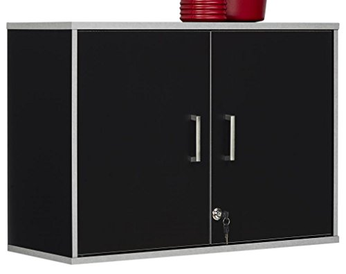 SystemBuild 7469056COM Apollo Wall Cabinet Black by SystemBuild