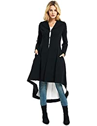64b3d4b00515 Women's Slim Long Dovetail Turn-Down Collar Trench Coat Gothic Clothing