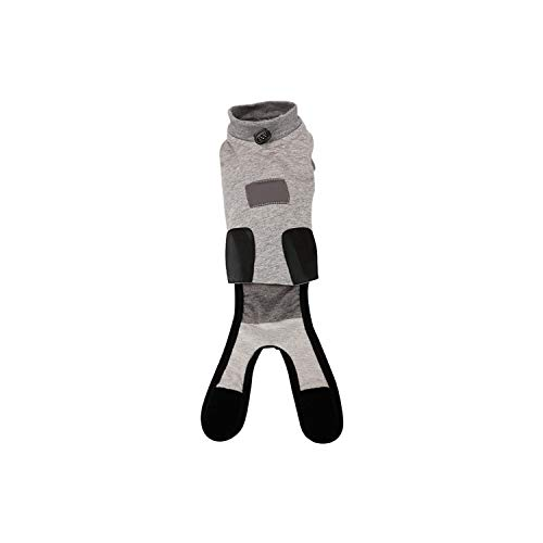 Encounter_meet Pet Cat Dog Sterilization Weaning Anti-Licking Clothes Pet Surgical Gown Coat,Gray,XXS -
