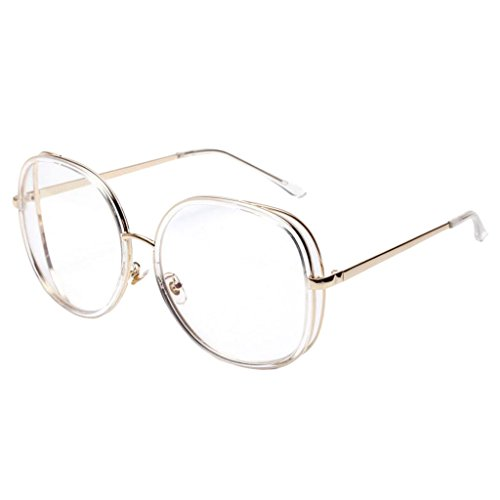 MonkeyJack Unisex Glasses Metal Oversized Square Vintage Fashion Mirrored Sunglasses - - Avant Garde Sunglasses