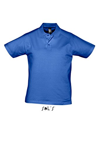 SOL´S Men Polo Shirt Prescott, Größe:XXL, Farbe:Royal Blue