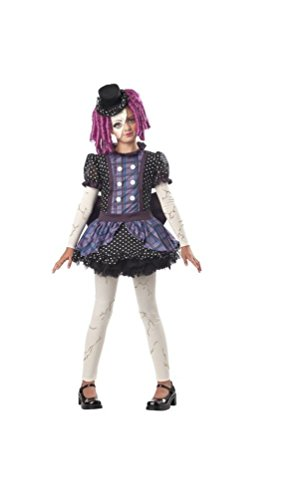 [Broken Doll Kids Costume - Medium] (Halloween Costumes Scary Doll)