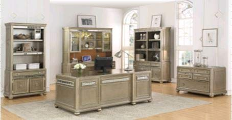 Coaster Home Furnishings Ritzville 4-Drawer File Cabinet Metallic Champagne Rectangular/Silver/Traditional