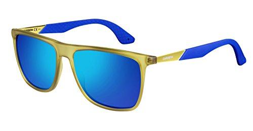 Carrera CA5018S Rectangular Sunglasses, Cedar Blue & ML Blue, 56 - Sunglasses Carrera Blue