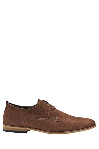 next Hombre Con Cordones Con Suela En Contraste Oficial Formal Zapatos De Vestir Marrón
