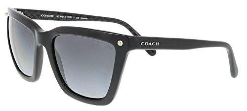 Signature Rectangular Sunglasses - COACH Women's 0HC8191 56mm Black One Size