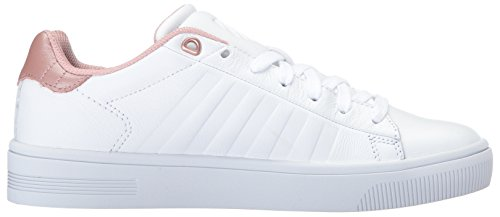 K-Swiss Women's Court Frasco Sneaker White/Rose new arrival cheap online with credit card free shipping free shipping shop offer outlet top quality discount fake MfRsfcD
