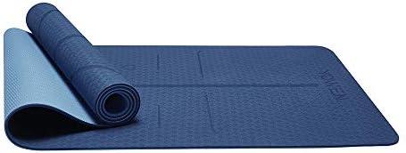 Yoga Mat, Tapete de Yoga, Estera de Yoga, 6mm Eco Friendly Pilates Mat, Colchoneta de Yoga Extra Larga y Ecológica Colchón de Ejercicios Antideslizante Esterilla de Entrenamiento para Pilates y Yoga con un Sistema de Alineación Corporal 5