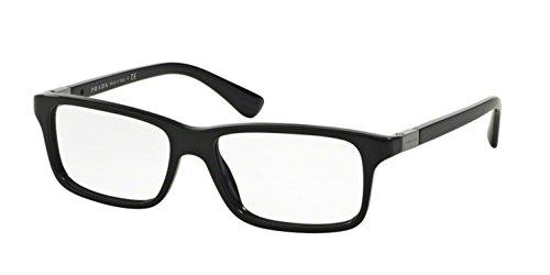 - Prada PR06SV Eyeglass Frames 1AB1O1-54 - Black PR06SV-1AB1O1-54