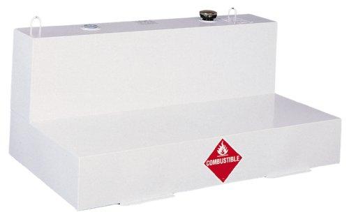 Delta 488000 76 Gallon White Low-Profile L-Shaped Steel Liquid Transfer Tank for Trucks