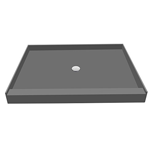 Tile Redi Shower Pan (Tile Redi USA P3648C-PVC Redi Base Single Curb Shower Pan with Center Drain, 36