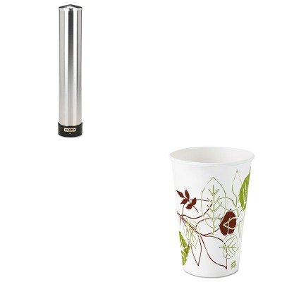 KITDXE12FPWSSJMC3400P - Value Kit - Dixie Pathways Polycoated Paper Cold Cups (DXE12FPWS) and San Jamar Large Water Cup Dispenser w/Removable Cap (SJMC3400P) by Dixie