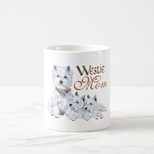 (Funny West Highland White Terrier Mom & Pups Coffee Mug 11oz Funny Gift Mug)