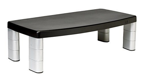 3M Extra Wide Adjustable Monitor Stand, Three Leg Segments Simply Adjust Height from 1