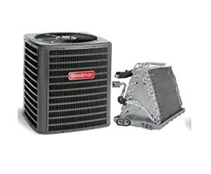 "Goodman 2.5 Ton 13 SEER AC with Uncased Upflow/Downflow Coil 17.5"" wide GSX130301CAUF3030B6 - With 3/8""x3/4""x25' lineset"