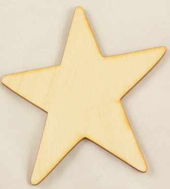 Package Of 50, Primitive Star Wood Cutout 4