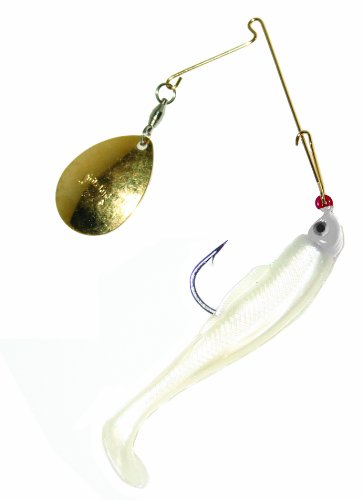 Strike King Redfish Magic Saltwater Spinnerbait (Pearl/Pearl Head, (0.125 Ounce Lure)