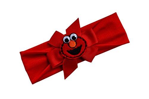 Elmo Bow Baby Headband Fits Newborn to 9