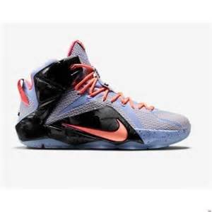 Price comparison product image nike lebron XII (GS) hi top basketball trainers 685181 sneakers shoes (5Y,  aluminium sunset glow hot lava 488)