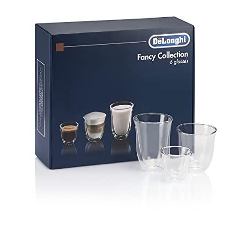 De'Longhi 5513296671 DLKC302 Delonghi Fancy Box - Juego de 6 vasos térmicos, transparentes