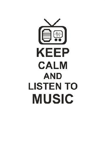 "Disagu Design Case Coque pour Apple iPhone 4 Housse etui coque pochette ""KEEP CALM AND LISTEN TO MUSIC"""