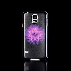 YULIN patrón de flores que brillan en la oscuridad caso duro para la galaxia s5