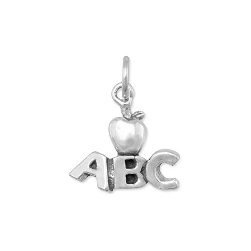 925 Sterling Silver ABC with Apple Charm