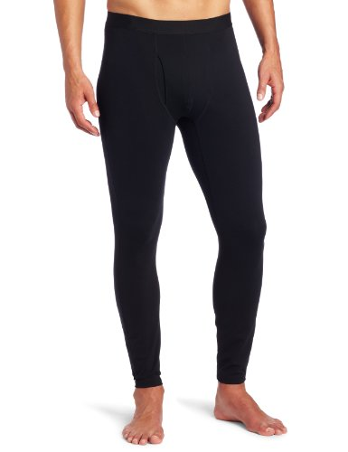 Columbia Men's Baselayer Midweight Tight Bottom with Fly (X-Large, Black)