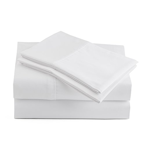Peru Pima - 415 Thread Count - 100% Peruvian Pima Cotton - Percale - Bed Sheet Set (King, White)