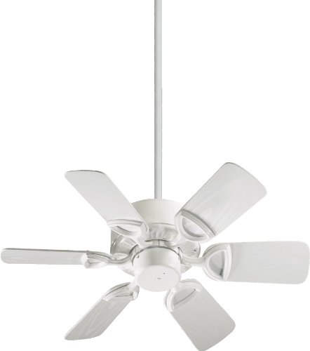 Quorum International 143306-6 Estate 6-Blade Patio Ceiling Fan with White ABS Blades, 30-Inch, Gloss White Finish (Quorum Estate Patio)