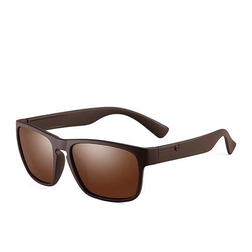 optiques Polarisé Brown C3 Fashion Brown Lunettes Homme Lunettes Guide Voyage TL de Sunglasses Square Lunettes 6xBU5v