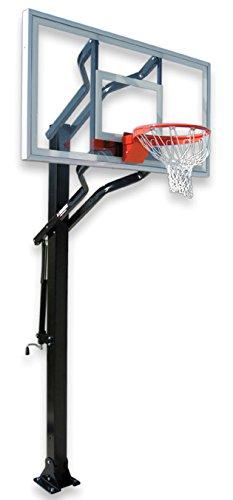 最初チームチャレンジャー選択steel-acrylic in ground調整可能バスケットボールsystem44、コロンビアブルー B01HC0C3QY