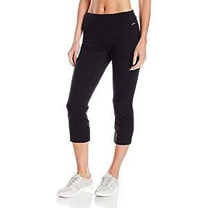 Jockey Women's Skim Fit Crop Pant, Deep Black, Medium