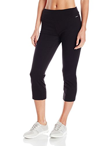 Jockey Women's Skim Fit Crop Pant, Deep Black, X-Large