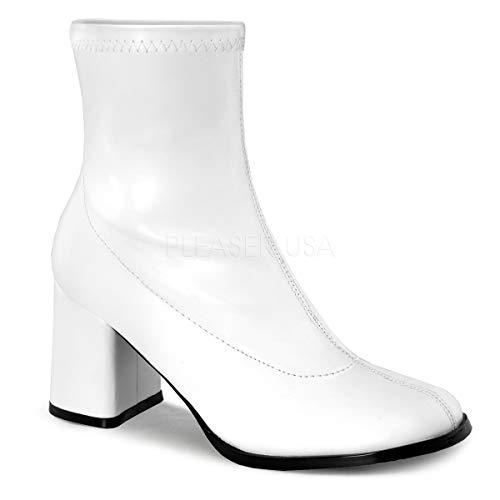 Funtasma Women's Gogo150/wpu Boot, White Stripe Polyurethane, 8 M US]()