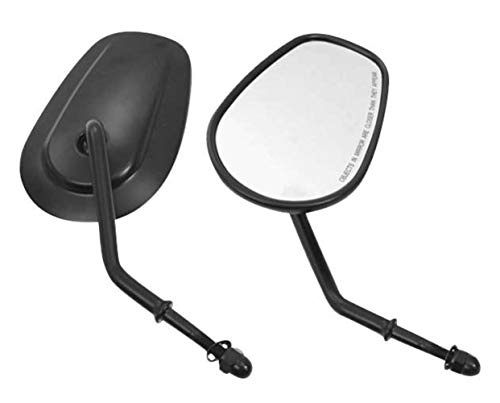 (Biker's Choice Tapered Mirrors (Short Stem) (Black))