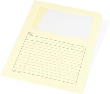 Unipapel 96145 - clasificadora transparente (180 g/qm,, 325 x 235 mm), color amarillo, 25 unidades: Amazon.es: Oficina y papelería