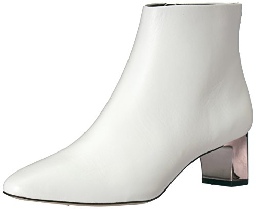 Calvin Klein Women's Mimette Leather Ankle Boot, Sandstorm White