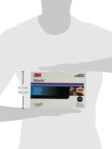 3M 02623 Imperial Wetordry 5-1/2'' x 9'' 1500C Grit Sheet by 3M (Image #3)
