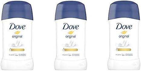 Dove - Desodorante en stick original, pack de 3 (3 x 40 ml ...