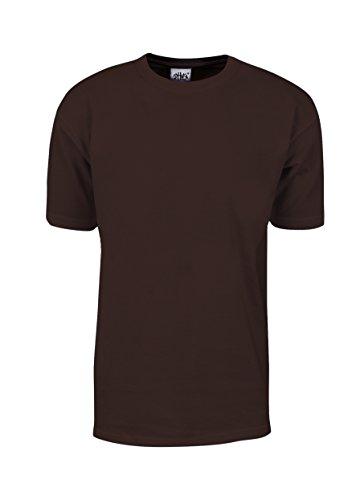 MHS04_3T Max Heavy Weight Cotton Short Sleeve T-Shirt Brown 3X-Tall