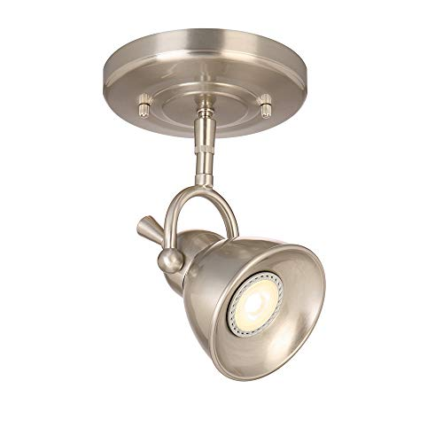 (Design House 578021 Pierce Single-Light Led Directional Ceiling Light, Satin Chrome,)