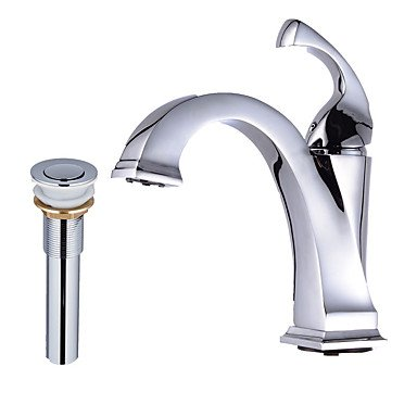 ZYT Chrome Tall Single Handle Lever Bathroom Sink Vessel Faucet