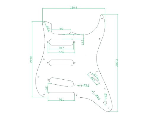 Kmise Z4705 Set Breen Shell Guitar Pickguard Back Plate Tremolo Cavity & Pickup Cover by Kmise (Image #6)