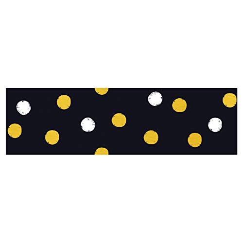 TREND enterprises, Inc. I ♥ Metal Dots Bolder Borders, 35.75', Black, Gold, 35.75 feet ()