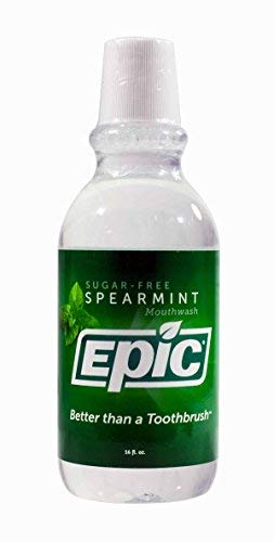 (Epic Xyitol Spearmint Flavored Mouthwash, 16-Ounce (Pack of 2))